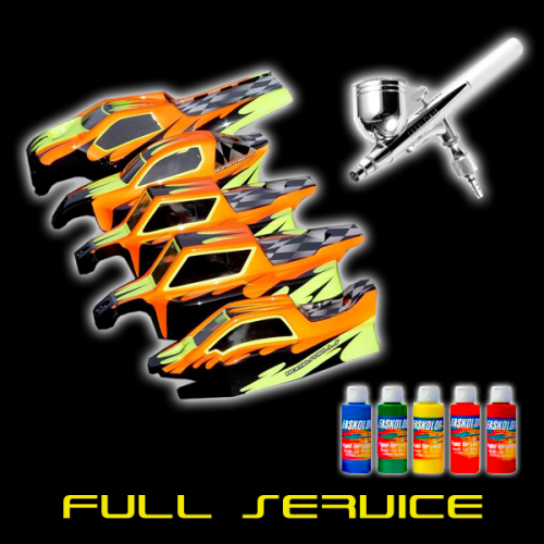 FULL PACKAGE SERVICE - Includes RC Body of your Choice, Cut Out, Painted, and Rhino-Lined!