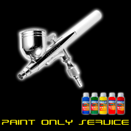 PAINT ONLY SERVICE - Includes Cut Out, Painted, and Rhino-Lined! (You Provide the RC Body)
