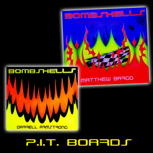 P.I.T. BOARDS - Bring some BLING to your Pits with RC BOMBSHELLS Custom Painted P.I.T. Boards.